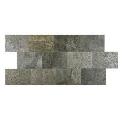 FastStone Peel & Stick Slate Wall Tile Silver Shine Model 150714721 Kitchen Stone Mosaics