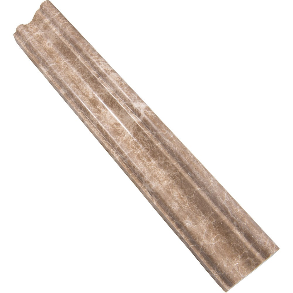Marbletiledirect CEDAR EMPERADOR MOLDING CONTEMPORARY