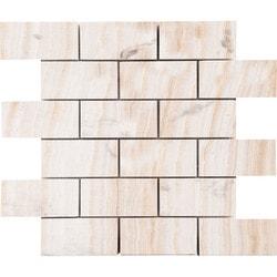 Marbletiledirect VANILLA ONYX MOSAICS Model 150951031 Kitchen Stone Mosaics