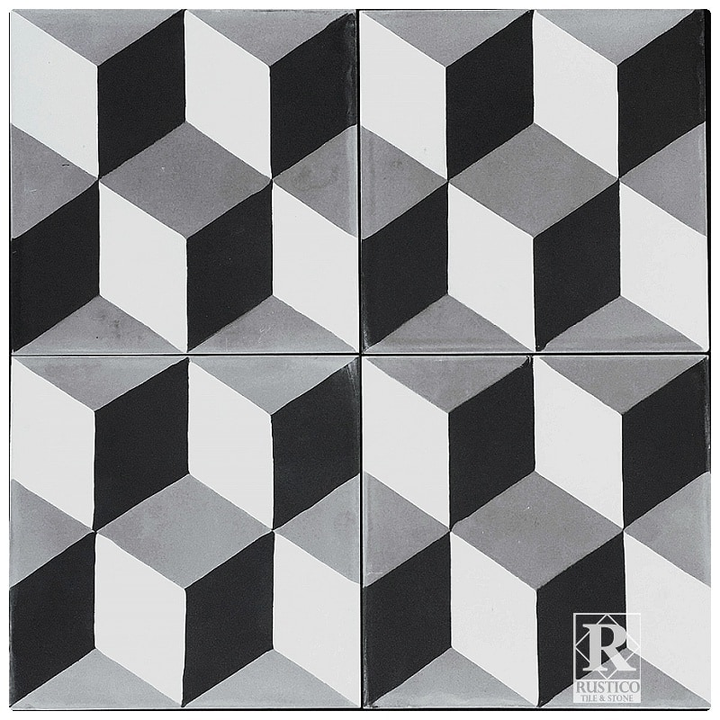 Rustico tile and stone encaustic cement tile harlequin for Carrelage 8x8
