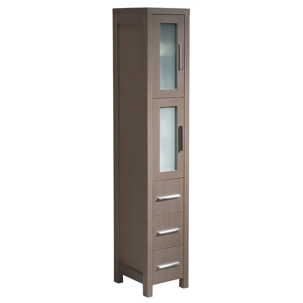bathroom linen side cabinet fresca torino bathroom linen side cabinet gray oak 11538
