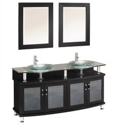 "Fresca Contento 60"" Double Sink Modern Bathroom Vanity with Mirrors Type 151618971 Bathroom Vanities in Canada"