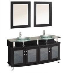 "Fresca Contento 60"" Double Sink Modern Bathroom Vanity with Mirrors Type 151618971 Bathroom Vanities in Canada"