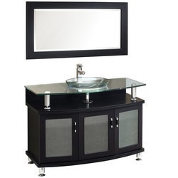 "Fresca Contento 44"" Modern Bathroom Vanity with Mirror Model 151619021 Bathroom Vanities"