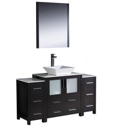 "Fresca Torino 54"" Modern Bathroom Vanity with 2 Side Cabinets Model 151619681 Bathroom Vanities"