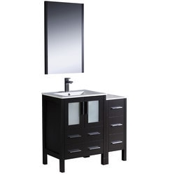"Fresca Torino 36"" Modern Bathroom Vanity with Side Cabinet Model 151620011 Bathroom Vanities"