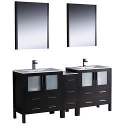 "Fresca Torino 72"" Modern Double Sink Bathroom Vanity with Side Cabinet Type 151620101 Bathroom Vanities in Canada"