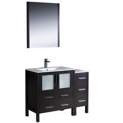 "Fresca Torino 42"" Modern Bathroom Vanity with Side Cabinet Model 151620211 Bathroom Vanities"