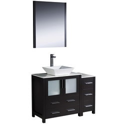 "Fresca Torino 42"" Modern Bathroom Vanity with Side Cabinet Type 151620221 Bathroom Vanities in Canada"