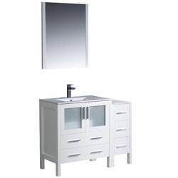 "Fresca Torino 42"" Modern Bathroom Vanity with Side Cabinet Type 151620291 Bathroom Vanities in Canada"