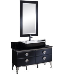 "Fresca Moselle 47"" Modern Glass Bathroom Vanity with Mirror Type 151620761 Bathroom Vanities in Canada"