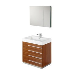"Fresca Livello 30"" Modern Bathroom Vanity with Medicine Cabinet Model 151621061 Bathroom Vanities"