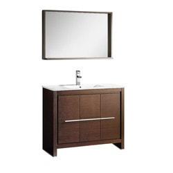 "Fresca Allier 40"" Modern Bathroom Vanity with Mirror Type 151621611 Bathroom Vanities in Canada"