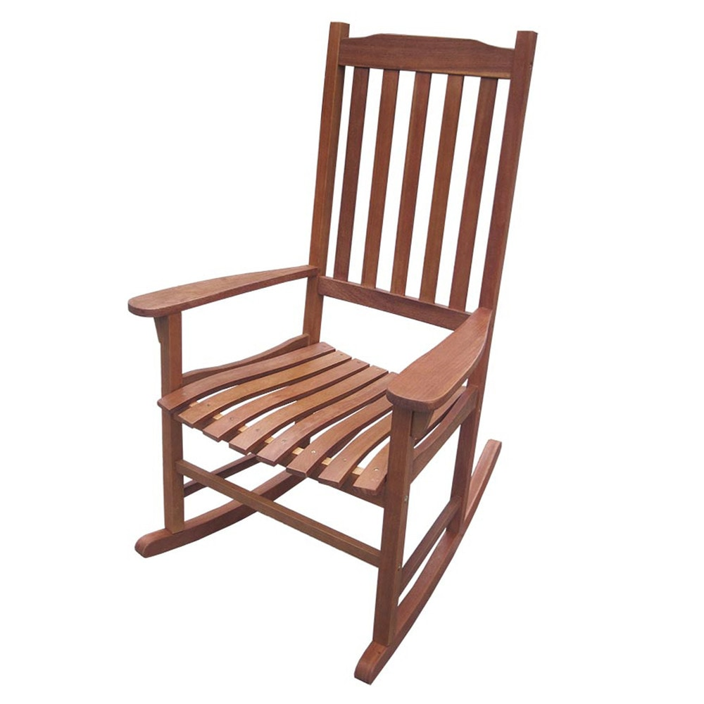 Kontiki Outdoor Patio Furniture Traditional Rocking Chair Natural Stain 1 Eucalyptus Stained
