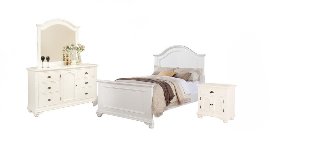 Picket House Furnishings Addison Bedroom Collection Full Size Bedroom Set 4 Pc White
