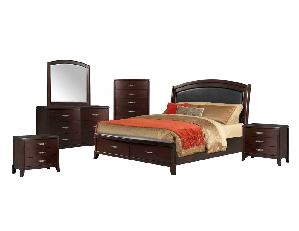 Picket house furnishings elaine bedroom collection queen for Espresso bedroom furniture
