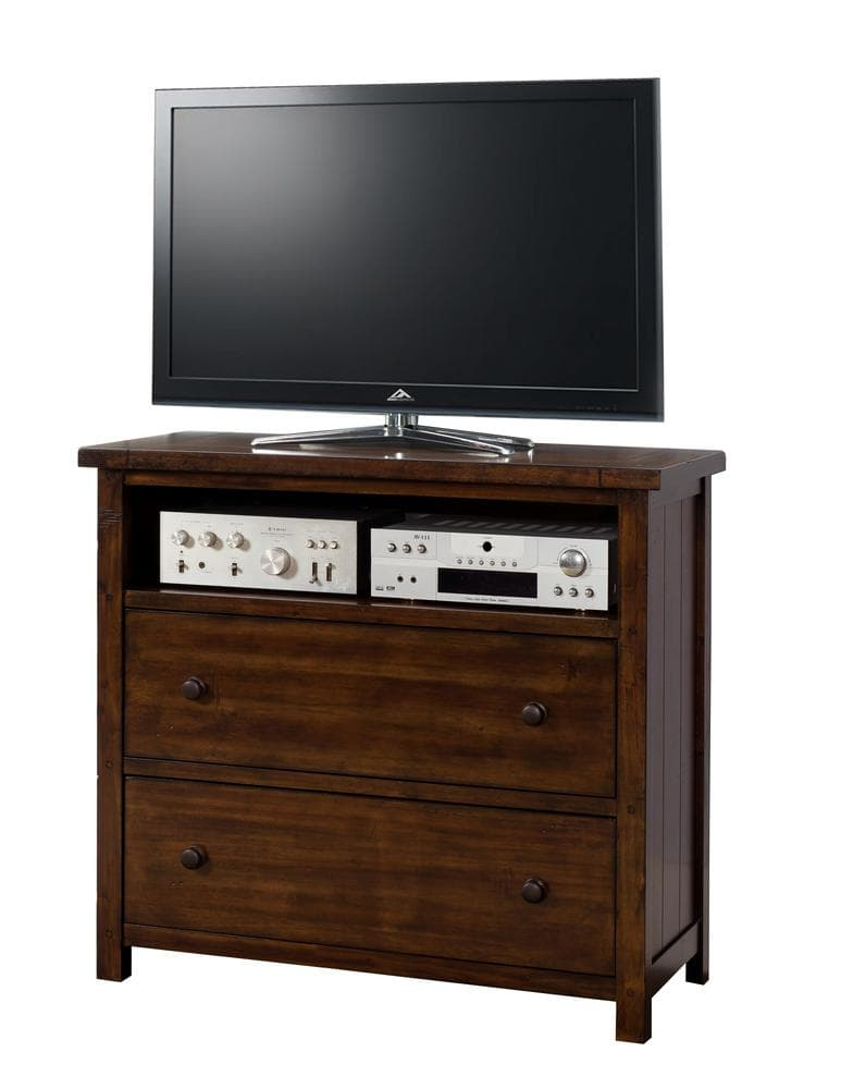 Picket house furnishings danner bedroom collection media for Bedroom media chest