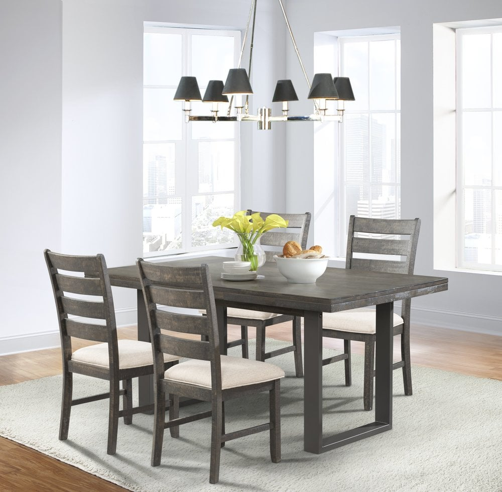 dining room all products dining table 4 side chairs 5 pc dark ash