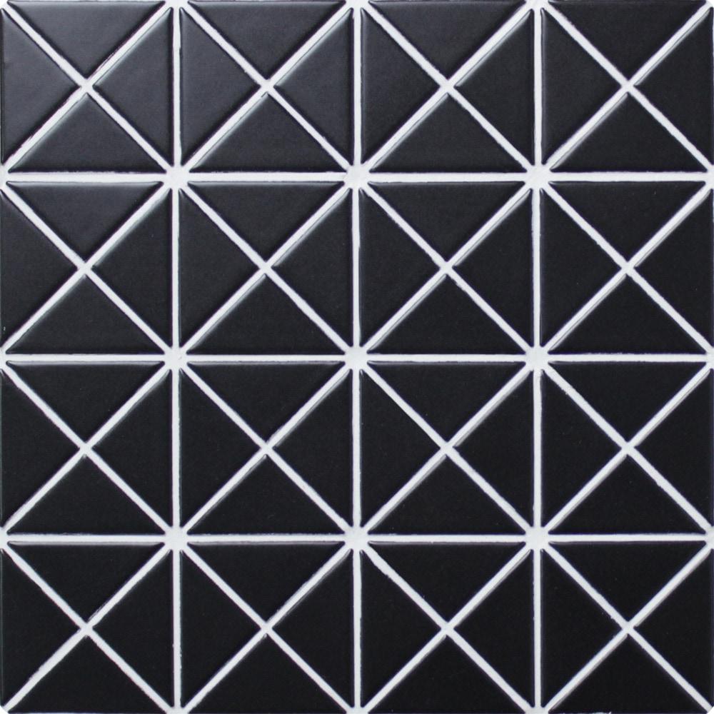 Ant Tile Triangle Porcelain Mosaic Tile Triangular Pure