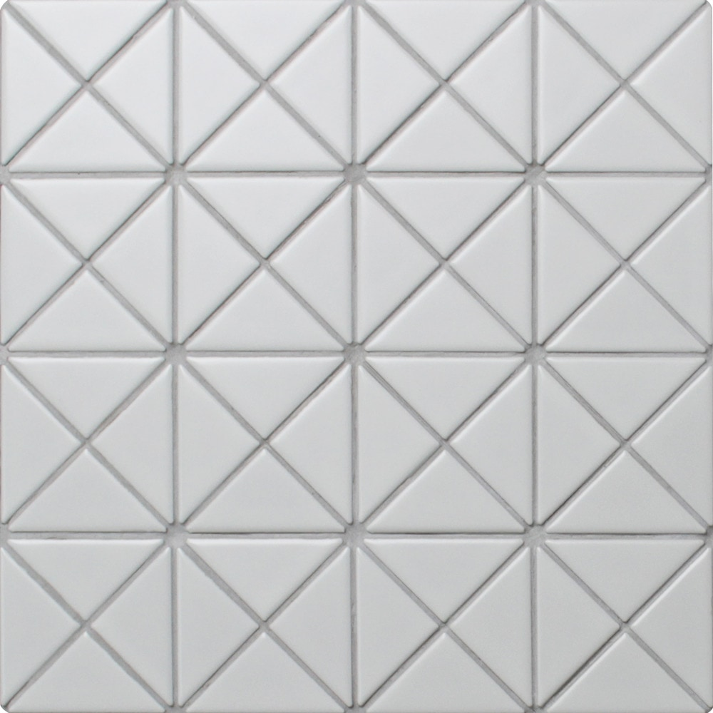 Ant Tile Triangle Porcelain Mosaic Tile Triangular Pure