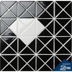 ANT TILE Black Glossy Porcelain Mosaic Tile Model 151395711 Kitchen Wall Tiles