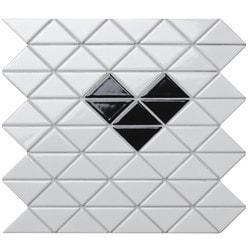ANT TILE White Glossy Porcelain Mosaic Tile Model 151395701 Kitchen Wall Tiles