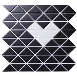 ANT TILE Black Matte Porcelain Mosaic Tile Model 151395691 Kitchen Wall Tiles