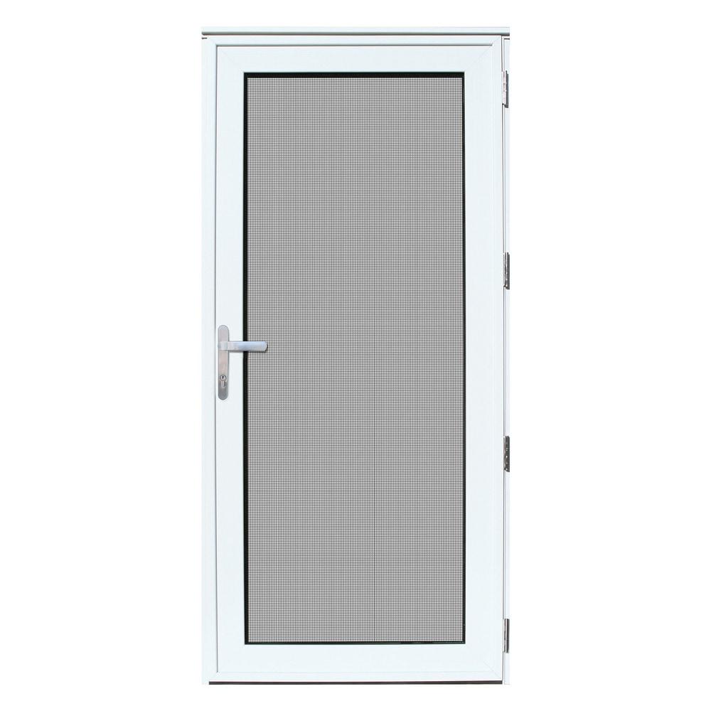 Titan security doors recessed mount meshtec security storm for Exterior outswing door
