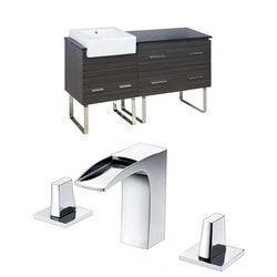 American Imaginations Xena Farmhouse Floor Mounted Vanity Set With 8 in o c AI 10405 Model 151203931 Bathroom Vanities