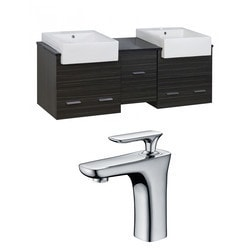 American Imaginations Xena Farmhouse Wall Mount Vanity Set With Single Hole AI 10530 Model 151204711 Bathroom Vanities