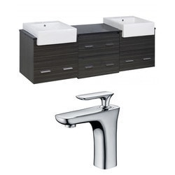 American Imaginations Xena Farmhouse Wall Mount Vanity Set With Single Hole AI 10551 Model 151204841 Bathroom Vanities