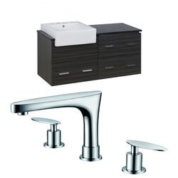 American Imaginations Xena Farmhouse Wall Mount Vanity Set With 8 in o c AI 10578 Model 151205031 Bathroom Vanities