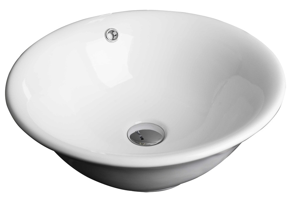 American imaginations round above counter traditional for Are vessel sinks out of style