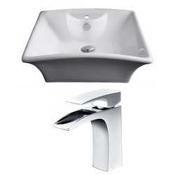American Imaginations Rectangular Above Counter Ceramic Vessel Set With Enamel Glaze XV Model 151285941 Bathroom Sinks