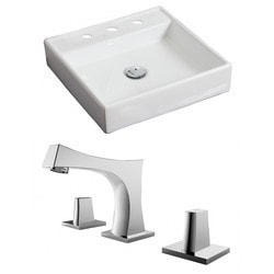 American Imaginations Square Above Counter Ceramic Vessel Set With Glaze Type 151290981 Bathroom Sinks in Canada