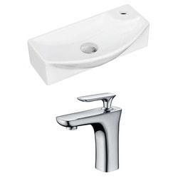 American Imaginations Rectangular Wall Mount Ceramic Bathroom Glazed Vessel Set VI Type 151288261 Bathroom Sinks in Canada