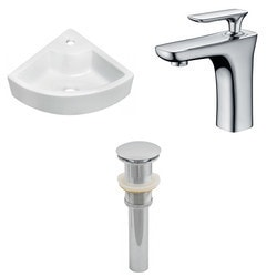 American Imaginations Unique Above Counter Ceramic Vessel Set With CUPC Faucet & Drain Type 151292161 Bathroom Sinks in Canada