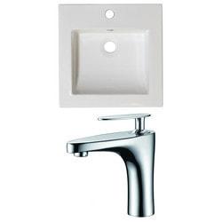 American Imaginations Nikki Drop In Ceramic Top Set With Single Hole AI 15933 Model 151266451 Bathroom Vanities