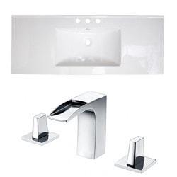 American Imaginations Drop In Ceramic Top Set With 8 in o c AI 16012 Model 151266051 Bathroom Vanities