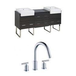 American Imaginations Xena Farmhouse Floor Mounted Vanity Set With 8 in o c AI 17355 Model 151206461 Bathroom Vanities