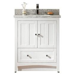 American imaginations shaker floor mounted vanity set with for Levi 29 5 single modern bathroom vanity set