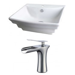 American Imaginations Rectangular Above Counter Ceramic Vessel Set With Enamel Glaze XXII Type 151286691 Bathroom Sinks in Canada