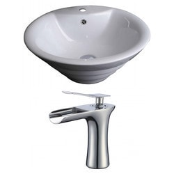 American Imaginations Round Above Counter Ceramic Vessel Sink Set With Glaze II Type 151290001 Bathroom Sinks in Canada