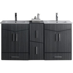 American Imaginations Zen Wall Mount Vanity Set With Single Hole AI 18165 Model 151209111 Bathroom Vanities