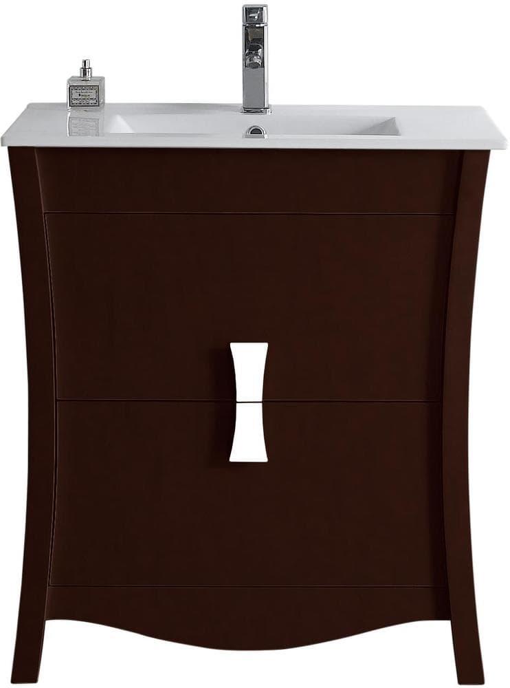 Bathroom Floor Bowing : American imaginations bow floor mounted vanity base ai