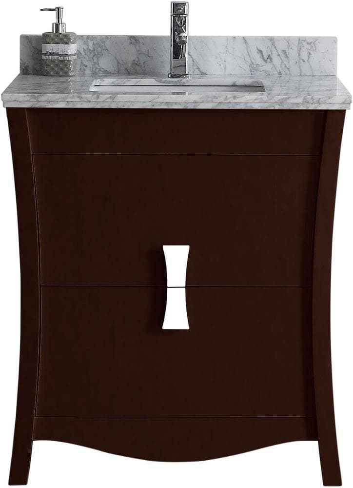 Bathroom Floor Bowing : American imaginations bow floor mounted vanity set with