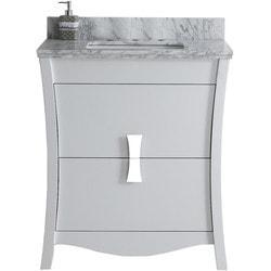 American Imaginations Bow Rectangular Floor Mounted Vanity Set With 8 in o c AI 18299 Model 151260891 Bathroom Vanities