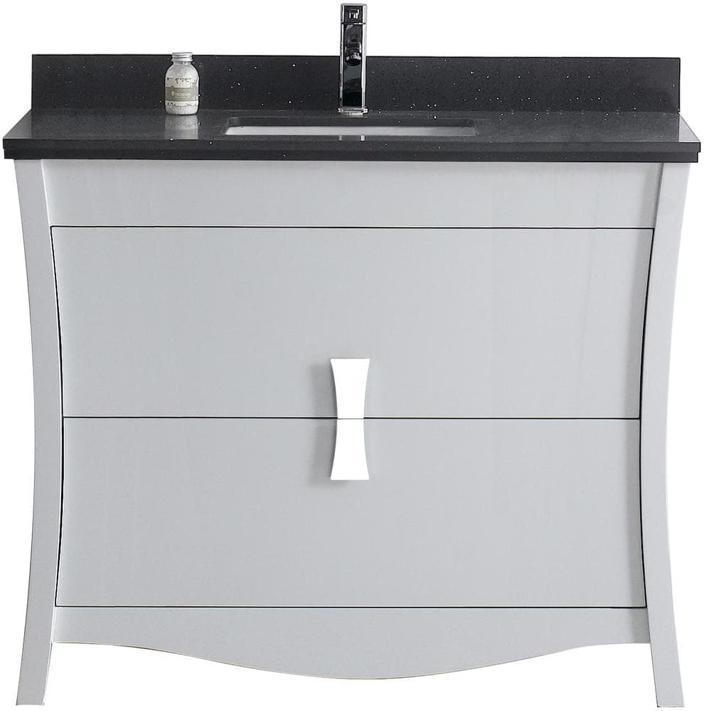 Bathroom Floor Bowing : American imaginations bow rectangular floor mounted vanity