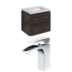 American Imaginations Xena Rectangular Wall Mount Vanity Set With Single Hole AI 8368 Model 151201961 Bathroom Vanities
