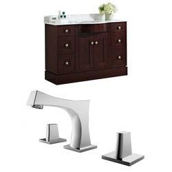 American Imaginations Tiffany Floor Mounted Vanity Set With 8 in o c AI 8798 Model 151274251 Bathroom Vanities